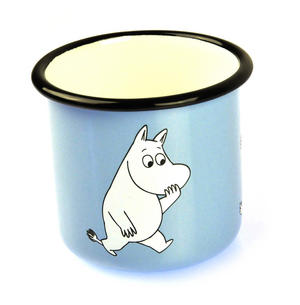 Moomintroll on Light Blue - Moomin Muurla Enamel Mug - 3.7 cl Thumbnail 3