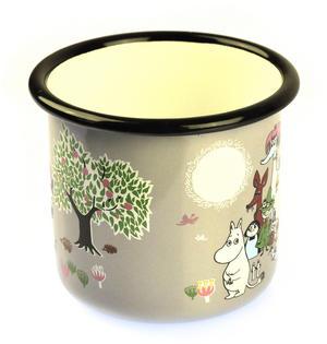 Moomin Garden on Grey - Moomin Muurla Enamel Mug - 37 cl Thumbnail 2