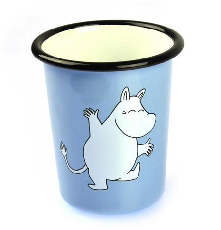 Moomintroll on Light Blue  - Moomin Muurla Enamel Tumbler