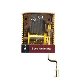 Love Me Tender - Elvis Presley - Handcrank Music Box