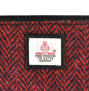 Red Herringbone Harris Tweed Small Bag Thumbnail 2