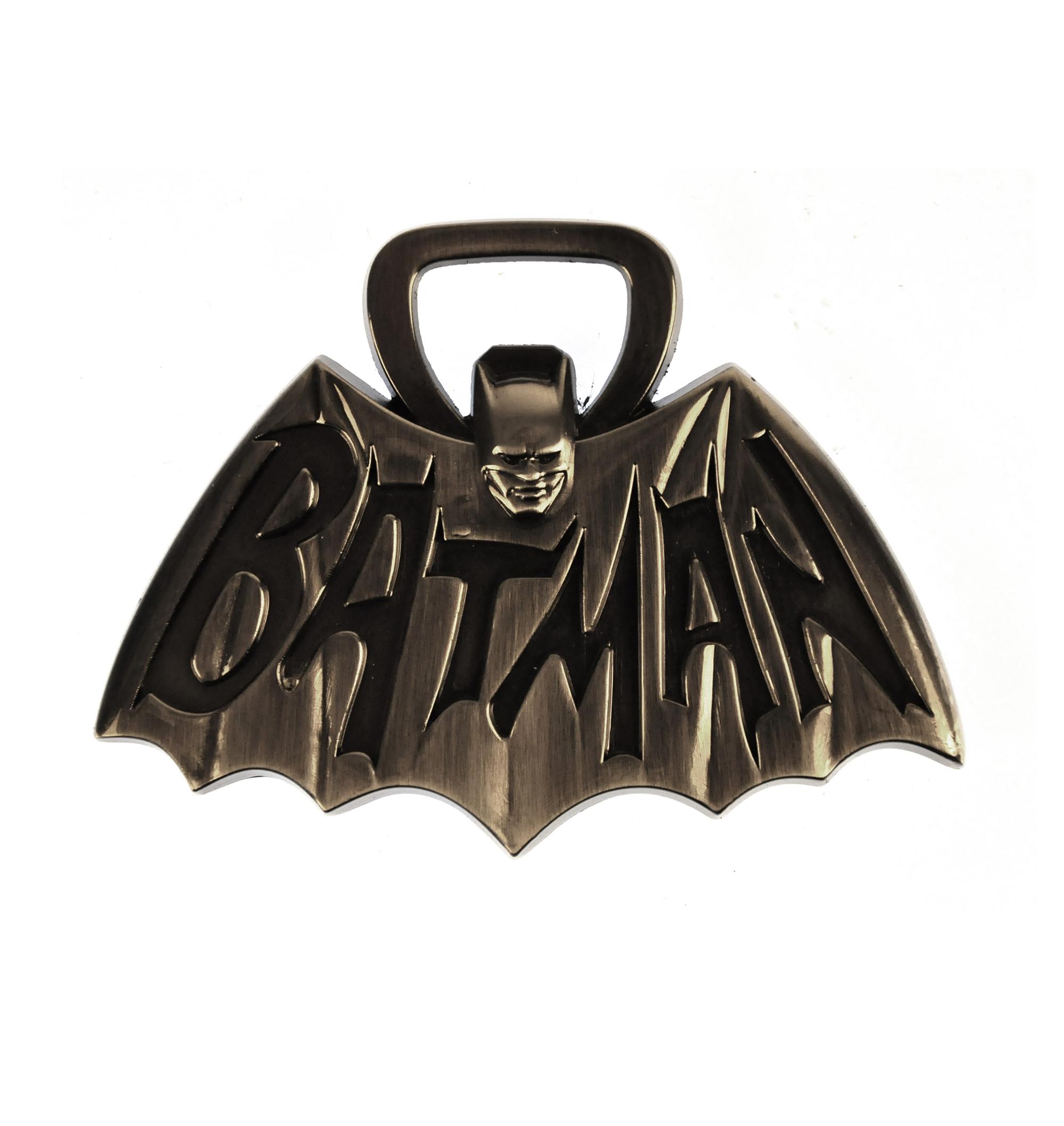 Batman Tv Logo Solid Metal Magnetic Bottle Opener Pink