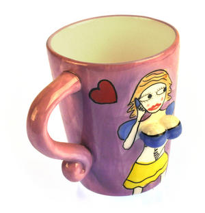 Beautiful Boobs Babe 3D Mug - Phone Lover Thumbnail 3