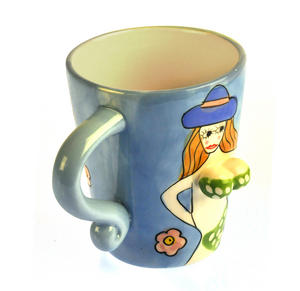 Beautiful Boobs Babe 3D Mug - Green Bikini & Blue Hat Thumbnail 3