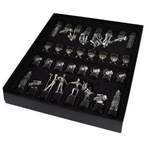 Special Collectors Edition - Batman Pewter Chess Set - LED Gotham Cityscape & Bat Signal Projection Thumbnail 2