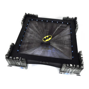 Special Collectors Edition - Batman Pewter Chess Set - LED Gotham Cityscape & Bat Signal Projection Thumbnail 4