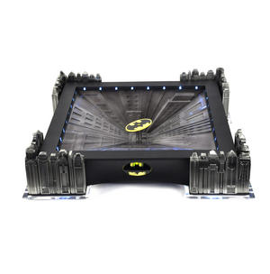 Special Collectors Edition - Batman Pewter Chess Set - LED Gotham Cityscape & Bat Signal Projection Thumbnail 7