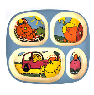 Mister Men & Little Miss 4 Compartment Serving Tray Thumbnail 1
