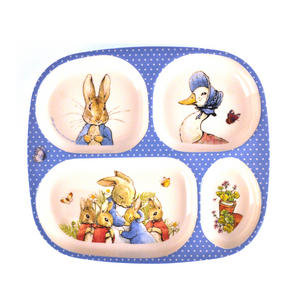 Beatrix Potter - Peter Rabbit, Mrs Rabbit & Jemima Puddleduck 4 Compartment Serving Tray Thumbnail 1