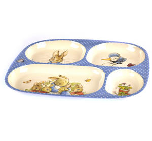 Beatrix Potter - Peter Rabbit, Mrs Rabbit & Jemima Puddleduck 4 Compartment Serving Tray Thumbnail 2