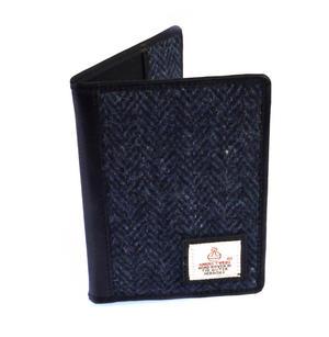 Blue Harris Tweed Herringbone Passport Wallet by Cloudberry