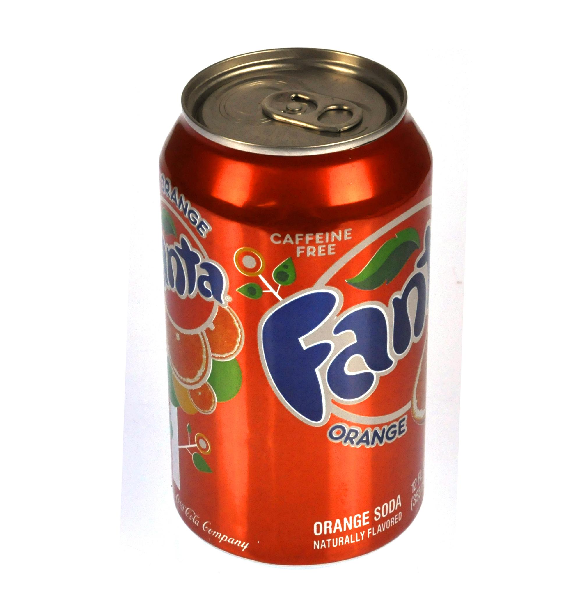 Branded Can Of Orange Fizzy Pop Stash Tin Pink Cat Shop
