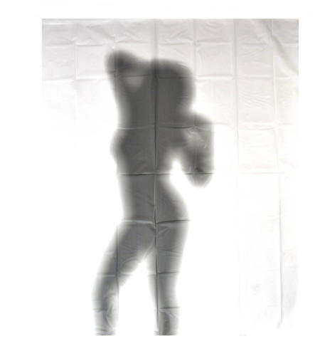 Naked Lady Silhouette Shower Curtain