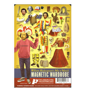 William Shakespeare All the World's a Stage - Magnetic Dress Up Wardrobe Thumbnail 3
