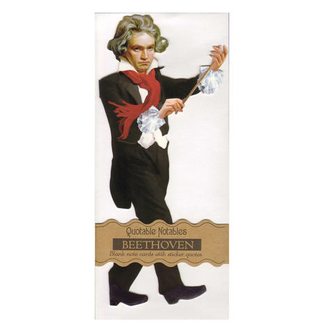 Beethoven Quotable Notable - Greeting Card With Sticker Quotes