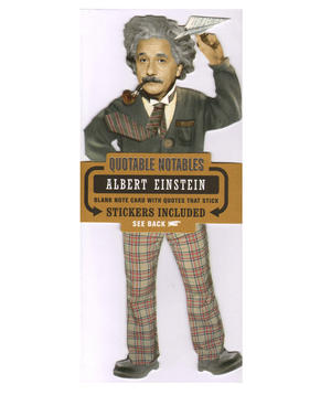 Albert Einstein Quotable Notable - Greeting Card With Sticker Quotes Thumbnail 1