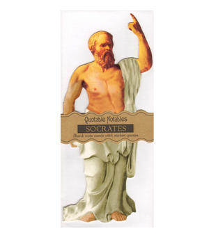 Socrates Quotable Notable - Greeting Card With Sticker Quotes Thumbnail 1