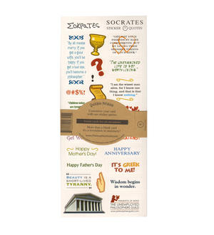 Socrates Quotable Notable - Greeting Card With Sticker Quotes Thumbnail 2