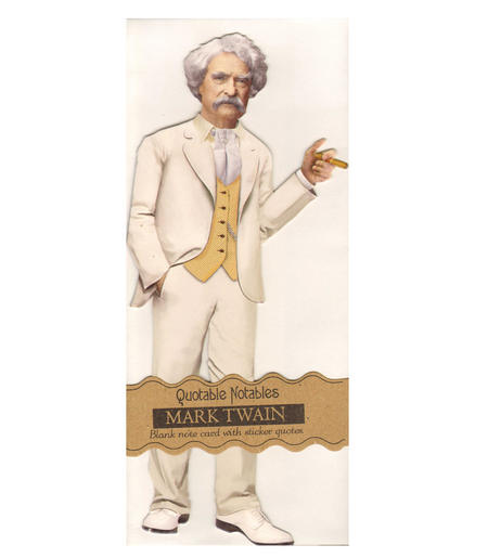 Mark Twain Quotable Notable - Greeting Card With Sticker Quotes
