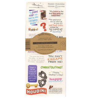 Harry Houdini Quotable Notable - Greeting Card With Sticker Quotes Thumbnail 2
