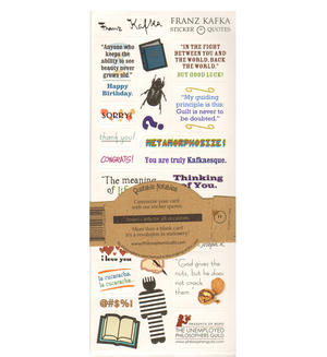 Franz Kafka Quotable Notable - Greeting Card With Sticker Quotes Thumbnail 2
