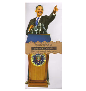 Barack Obama Quotable Notable - Greeting Card With Sticker Quotes Thumbnail 1