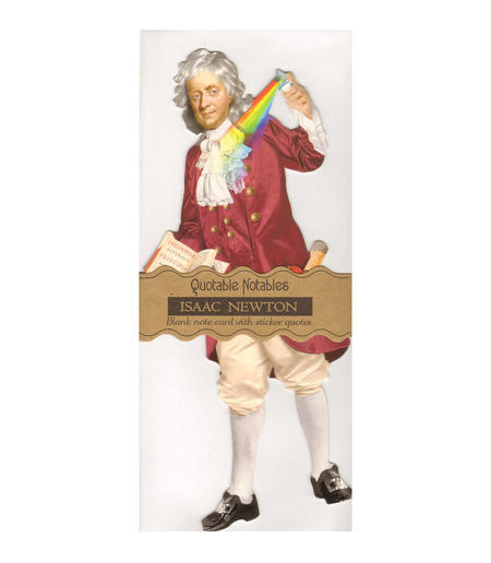Issac Newton Quotable Notable - Greeting Card With Sticker Quotes