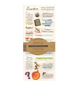 Issac Newton Quotable Notable - Greeting Card With Sticker Quotes Thumbnail 2