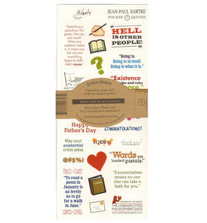 Jean Paul Sartre Quotable Notable - Greeting Card With Sticker Quotes Thumbnail 2