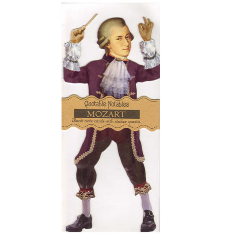 Mozart Quotable Notable - Greeting Card With Sticker Quotes