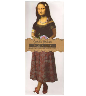Mona Lisa Quotable Notable - Greeting Card With Sticker Quotes Thumbnail 1