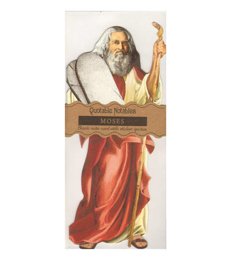 Moses Quotable Notable - Greeting Card With Sticker Quotes