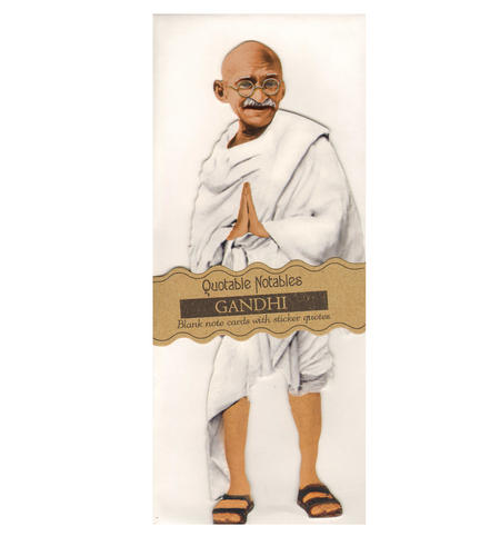 Gandhi Quotable Notable - Greeting Card With Sticker Quotes