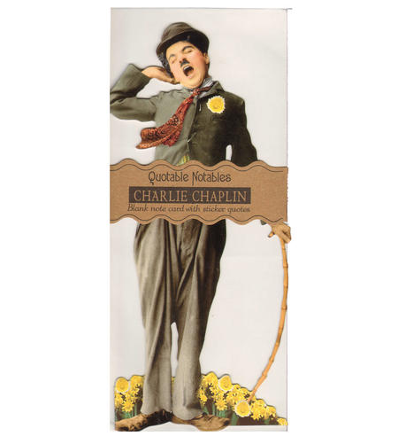 Charlie Chaplin Quotable Notable - Greeting Card With Sticker Quotes