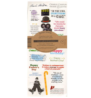 Charlie Chaplin Quotable Notable - Greeting Card With Sticker Quotes Thumbnail 2