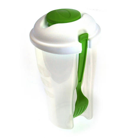 Salad to Go - All in One Salad and Dressing Container with Built in Fork