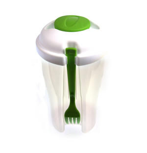 Salad to Go - All in One Salad and Dressing Container with Built in Fork Thumbnail 2