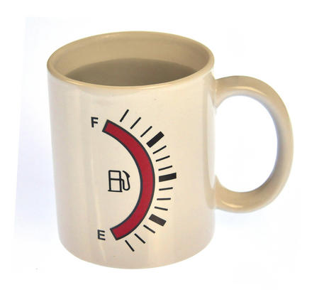 Fuel Gauge Heat Change Mug