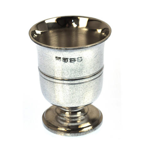 Tudor Goblet in Heavy Hallmarked Pewter - Half Pint