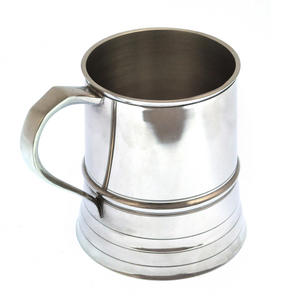 Beaded One Pint Tankard in Heavy Hallmarked Pewter Thumbnail 4
