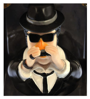 Elwood Blues Brother Rubber Duck - Celebriduck Thumbnail 1