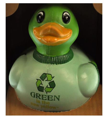 Mr. Green - Recycled Green Rubber Duck - Celebriduck