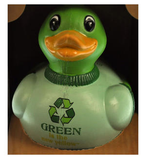 Mr. Green - Recycled Green Rubber Duck - Celebriduck Thumbnail 1