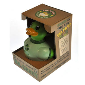 Mr. Green - Recycled Green Rubber Duck - Celebriduck Thumbnail 2