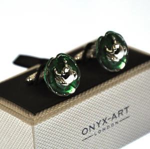 Cufflinks - Frog on Waterlily Thumbnail 2
