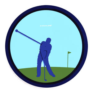 Golfer Wall Clock Thumbnail 1