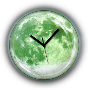 Clair de lune Moonlight Wall Clock - Glow in the Dark Thumbnail 1