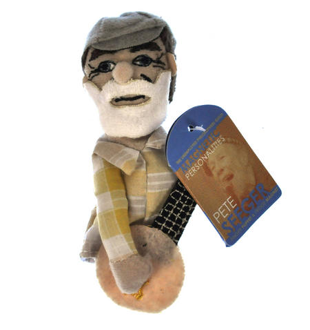 Pete Seeger Finger Puppet & Fridge Magnet