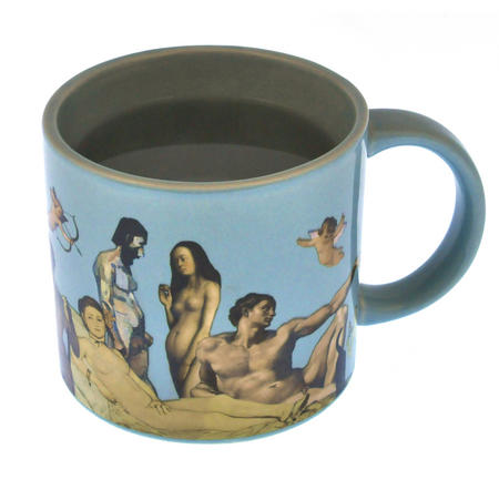 Great Nudes of Art Disrobing Heat Change Mug