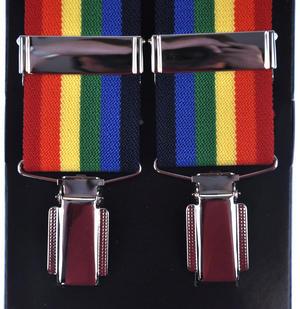 Rainbow Trouser Braces - Suspenders Thumbnail 2